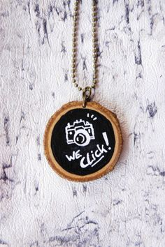 Wooden Chalkboard Necklace