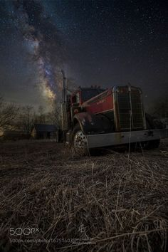 """Night Rig  """"Night Rig"""" by Aaron Groen  Abandoned Big Rig and Milky Way. Prints at - HomeGroenPhotography.com  Camera: Canon EOS 6D Lens: EF16-35mm f/2.8L II USM Focal Length: 16mm Shutter Speed: 25sec Aperture: f/3.2 ISO/Film: 6400  Image credit: http://ift.tt/2bnJzvw Visit http://ift.tt/1qPHad3 and read how to see the #MilkyWay  #Galaxy #Stars #Nightscape #Astrophotography"""