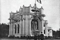 French Pavillion - World's Fair Chicago 1893 (popular display was of the Bertillon method, or Bertillage, a method of measuring criminals for identification purposes)