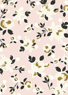 Caroline Gardner, floral, simple, colour, spring, gold, pink, mustard, repeat, pattern