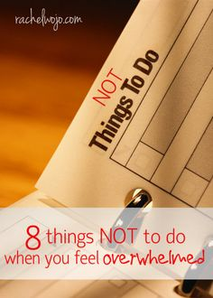 Because when you are overwhelmed, the last thing you need is more to do, right?