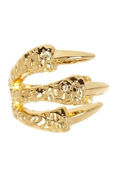 Textured Wrap Around Claw Ring by Beyond Rings on @HauteLook