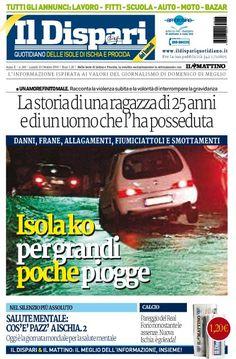 La copertina del 10 ottobre 2016 #ischia #ildispari