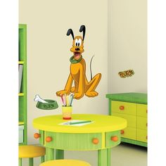 Mickey amp Friends Pluto Peel amp Stick Giant Wall Decals - http://www.babydecorations.net/mickey-amp-friends-pluto-peel-amp-stick-giant-wall-decals/