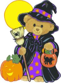 .witchy bear halloween