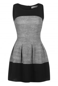 Robe tweed bicolore - gris