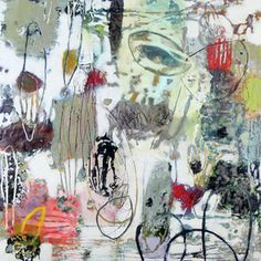 Recent work by artist Su Sheedy Like her work, especially color. Like mix of blobs and lines Encaustic Painting, Painting & Drawing, Found Art, Abstract Art, Abstract Paintings, Painting Inspiration, Art Inspo, Colorful Paintings, All Art