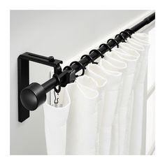 IKEA - RÄCKA, Comb barra cortina, Puedes colgar las cortinas más cerca o más lejos de la ventana, regulando el ángulo del soporte.Se puede montar en la pared o en el techo.La longitud se puede regular.