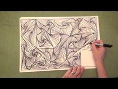 ASMR: Line Illusions (ASMR, no speaking, Doodling pattern, Pursuit curve, Zen tangle) - YouTube