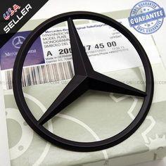 Genuine Black Mercedes-Benz Star Logo Trunk Rear Emblem W205 Badges Modified Decoration Mercedes C350, Black Mercedes Benz, Daimler Ag, Cheap Vinyl, Star Logo, Benz C, Adhesive, Volkswagen, Engineers