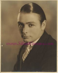 GEORGE K. ARTHUR (c.1920s) - silent movie actor born in Scotland (The Boob, Spring Fever) 1899-1985