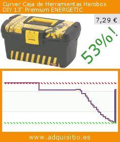 """Curver Caja de Herramientas Herobox DIY 13"""" Premium ENERGETIC (Cocina). Baja 53%! Precio actual 7,29 €, el precio anterior fue de 15,43 €. http://www.adquisitio.es/curver/caja-herramientas-herobox-0"""