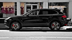 "Porsche Cayenne Turbo 2010: Oh wow, I've never really had a specific ""future car"" in mind, but when I saw this BEAUTY, ""New Porsche Cayenne... black on black... red rims "" Mmm Mmm Mmm! -Dream BIG!"