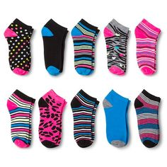Modern Heritage™ Women's Fashion Socks 10-Pack - Black One Size