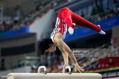Ryohei Kato of Japan competes on the pommel horse during the Men's Team Final of the 45th Artistic Gymnastics World Championships at Guangxi Sports Center Stadium on October 7, 2014 in Nanning, China.