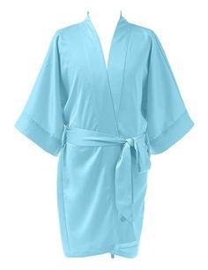 Remedios Silk Satin Kimono Robe for Flower Girl Kids Sleepwear Nightdress: Amazon.ca: Clothing & Accessories