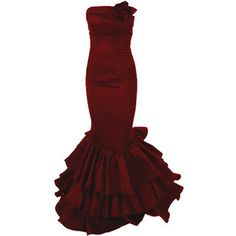 Fishtail Dress - Red