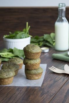 Green Monster Smoothie Muffins  | thefirstyearblog.com