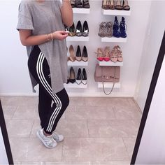 """Denise Melissa on Instagram: """"ADIDAS✔️ #love #adidas #sweatpants... ❤ liked on Polyvore featuring shoes, sneakers, sporty shoes, adidas sneakers, adidas, adidas trainers and adidas shoes"""