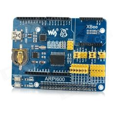 Waveshare ARPI600 Expansion Board for Raspberry Pi B+ - Blue. Color Blue Model ARPI600 Quantity 1 Piece Material PCB English Manual / Spec No Other Features Support Raspberry Pi serial debug, RTC and ADC, etc.; Support Arduino port (with AD function), for convenient access of Raspberry Pi to Arduino Shield; Support wireless data transmission via XBee communication module and XBee USB adapter; Support sensor port Packing List 1 x Expansion board 1 x USB cable type A male to Mini-B male cable…