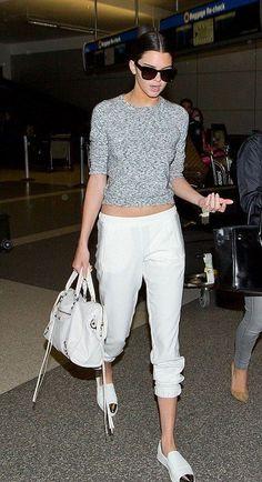 Metal Cap Toe Sneakers, Topshop Space Dye Knit Sweater in Grey, Kendall Jenner