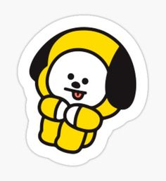 Pegatina Chimmy BTS Kawaii Drawings, Printable Stickers, Cute Stickers, Dog Emoji, We Bare Bears Wallpapers, Tumblr Stickers, Bts Chibi, Aesthetic Stickers, Bts Jungkook