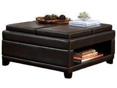 Signature Design Living Room Storage Ottoman