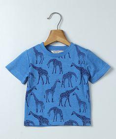 Blue Giraffe Crewneck Tee - Infant, Toddler & Boys