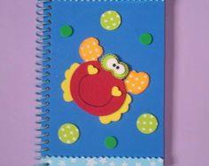 Caderneta / Agenda decorada com EVA