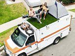Man converts an AMBULANCE into a mobile bachelor pad http://www.dailymail.co.uk/travel/travel_news/arti... Ian Dow, from California, spent four months converting the ambulance into a mobile home for his on-the-road journey into a new, single life.