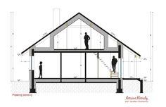 Projekt domu Talia, wizualizacja 6 Wardrobe Rack, Loft, Bed, Modern, Furniture, Home Decor, Trendy Tree, Decoration Home, Stream Bed