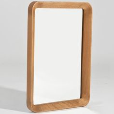 Sean Dix Crescendo Rectangular Mirror - Graceful, sophisticated, and understated, the Sean Dix Collection Crescendo Rectangular Mirror adds the perfect touch of artistry and . Entrance Hall Decor, Gold Faucet, Rounded Rectangle, Wood Mirror, The Perfect Touch, White Oak, Wood Veneer, Solid Wood, Simple