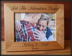 She Said Yes Engagement  Picture Frame Let the Adventure