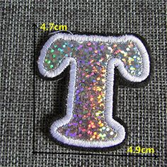 FairyTeller New Arrival 26 Letter Hot Melt Adhesive Applique Embroidery Patch Diy Clothing Accessory Patch 1Pcs Sell C762-C861 *** For more information, visit image link.