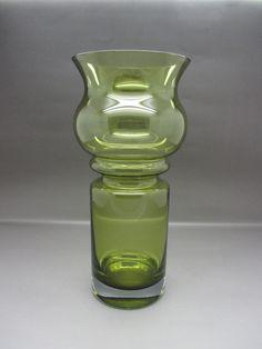 Amber Green Aseda Scandinavian Vase