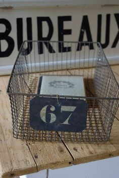wire and signage and wood and numbers and.......