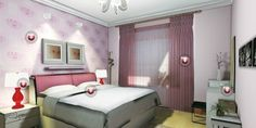 Inspiration Ideas Bedroom Interior Design Pink Design Beautiful Bedroom Mediterranean   With Interior Design Bedroom Pink 26