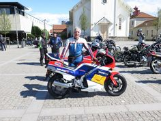 Me and my Honda NS 400R. Kungsrallyt 2015,  for 30 year old bikes (veteran) Kungsbacka
