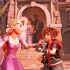 Sora and Rapunzel - Games Disney Tangled, Disney Art, Disney Princess, Kingdom Hearts 3, Sora Kh, Kh 3, Video Game Anime, Heart Pictures, New Theme