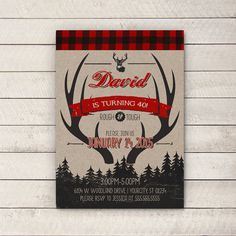 Hey, I found this really awesome Etsy listing at https://www.etsy.com/listing/211165490/hunting-party-invite-manly-birthday