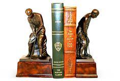 Pair of Putting Golfer Bookends on OneKingsLane.com
