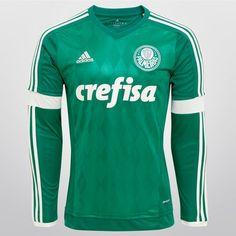 Camisa Adidas Palmeiras I 2015 s/nº M/L - Verde