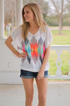 Your True Colors Top, White on Wanelo..very pretty!