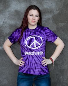 Spider Purple Tie Dye T-Shirt – Enjoy Weed Shack Tie Dye T Shirts, Weed, Compliments, Spider, T Shirts For Women, Purple, Tops, Fashion, Tie Shirts