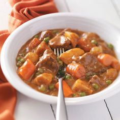 ah this like a recipe that I had... can't wait to try this! Wonder if Panda will like it :D    Home-Style Stew Recipe  2 packages (16 ounces each) frozen vegetables for stew  1-1/2 pounds beef stew meat, cut into 1-inch cubes  1 can (10-3/4 ounces) condensed cream of mushroom soup, undiluted  1 can (10-3/4 ounces) condensed tomato soup, undiluted  1 envelope reduced-sodium onion soup mix