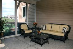 Screened in Porch with Fireplace | Screened in Porch porch
