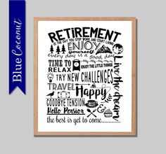 retirement printable digital file retirement by thebluecoconut - Free Printable Retirement Party Invitations