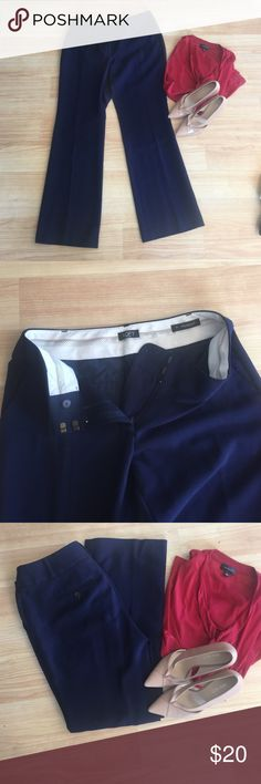 LOFT Navy Julie Trousers Excellent quality LOFT navy trousers. Material is heavy weight and super flattering. Great staple for a business casual closet. Would love to keep, but a bit too big for me. LOFT Pants Trousers