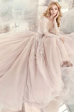 Hayley Paige Bridal Gowns, Wedding Dresses Style by JLM Couture, Inc. Dream Wedding Dresses, Bridal Dresses, Prom Dresses, Formal Dresses, Gown Wedding, Blush Wedding Dresses, Hayley Paige Bridal, Hailey Paige Bridesmaid, Beautiful Gowns