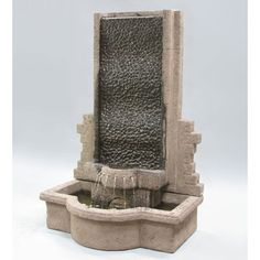 The Tranquility Outdoor Water Fountain by Al's Garden Art oozes an unparalleled tranquil ambiance that will fill up any outdoor setting. It boasts a design that features a gorgeous brick-like wall, a Large Outdoor Fountains, Small Fountains, Stone Fountains, Garden Fountains, Water Fountains, Diy Water Feature, Backyard Water Feature, Ponds Backyard, Backyard Ideas